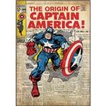 Adesivo de Parede Captain America Comic Cover Giant Wall Decal Roommates Colorido (46x12,8x2,8cm)