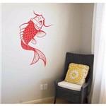 Adesivo de Parede Carpa Koi Peixe Decoração Arte Tatto