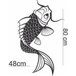 Adesivo de Parede Carpa Koi Peixe Decoração Arte