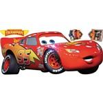 Adesivo de Parede Carros Lightening McQueen Roommates Vermelho/Amarelo (101,6x45,7cm)