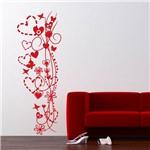 Adesivo de Parede - Coração, Flor e Borboleta - N5003