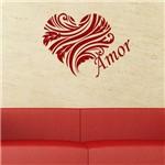 Adesivo de Parede - Coração Floral, Amor - X002rmp