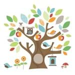 Adesivo de Parede Decorativo Amigos da Árvore - Skip Hop