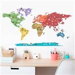 Adesivo de Parede Decorativo Infantil Mundo Discovery Stixx Colorido (86x155x86cm)