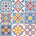 Adesivo de Parede Decorativo para Cozinha Stixx Azulejos Barcelona Colorido (123x61cm)