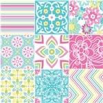 Adesivo de Parede Decorativo para Cozinha Stixx Azulejos Bliss Colorido (123x61cm)