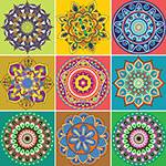 Adesivo de Parede Decorativo para Cozinha Stixx Azulejos Gipsy Colorido (123x61cm)