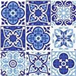 Adesivo de Parede Decorativo para Cozinha Stixx Azulejos Lisboa Colorido (123x61cm)