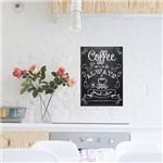 Adesivo de Parede Decorativo para Cozinha Stixx Coffee Preto e Branco (42x29,7x42cm