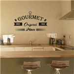 Adesivo de Parede Decorativo para Cozinha Stixx Gourmet Preto ( 38x65x1cm)
