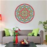 Adesivo de Parede Decorativo Stixx Mandala Folk Colorido (60x60cm)