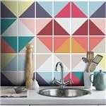 Adesivo de Parede Destacável Azulejo Triângulo Color