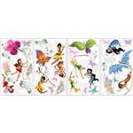 Adesivo de Parede Disney Fadas Roommates Colorido (25,4x45,7cm)