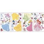 Adesivo de Parede Disney Princesas Princess Peel & Stick Wall Decal Roommates Rosa/Amarelo/Azul/Verde (25,4x45,7cm)