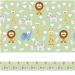 Adesivo de Parede Faixa Decorativa Infantil Animais Baby 6m X 15cm