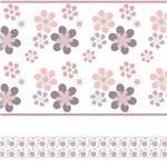 Adesivo de Parede Faixa Decorativa Infantil Flores 10m X 10cm