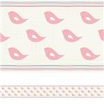Adesivo de Parede Faixa Decorativa Infantil Passarinhos Rosa 10m X 10cm