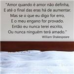 Adesivo de Parede Frase - Amor Quando é Amor - N3023