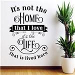 Adesivo de Parede Frase Home