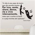 Adesivo de Parede Frase - Peça de Teatro - N9010