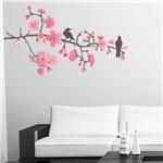 Adesivo de Parede - Galhos, Flores e Pássaros - N9201