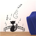 Adesivo de Parede - Gato Pianista - N3004