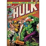 Adesivo de Parede Incredible Hulk & Wolverine Comic Cover Giant Wall Decal Roommates Colorido (46x12,8x2,8cm)