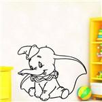 Adesivo de Parede Infantil Baby Dumbo