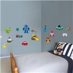 Adesivo de Parede Infantil Brinquedos de Menino