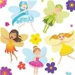 Adesivo de Parede Infantil Fadas e Flores
