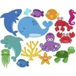 Adesivo de Parede Infantil Fundo do Mar