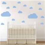 Adesivo de Parede Infantil Nuvens Azul