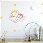 Adesivo de Parede Infantil Ursinha Princesa