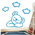 Adesivo de Parede Infantil Ursinho Dormindo