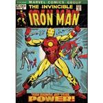 Adesivo de Parede Iron Man Comic Cover Giant Wall Decal Roommates Colorido (46x12,8x2,8cm)