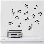 Adesivo de Parede - Kit Notas Musicais - N6006