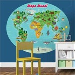 Adesivo de Parede Mapa Mundi Infantil Baby