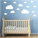 Adesivo de Parede Nuvens Brancas para Quarto Infantil 18un