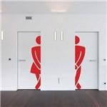 Adesivo de Parede para Banheiro Masculino e Feminino ou Casal 2