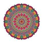 Adesivo de Parede para Sala Mandala Folhas