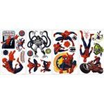 Adesivo de Parede Ultimate Spider-Man Wall Decals Roommates/Disney Colorido (46x12,8cm)