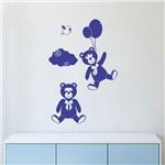 Adesivo de Parede Urso Balão Decoração Infantil