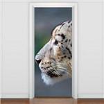 Adesivo de Porta Animais - Leopardo das Neves