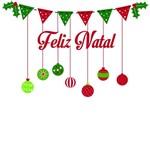 Adesivo de Porta Decoração Natal Frase Feliz Natal