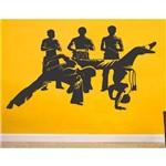 Adesivo Decorativo de Parede Capoeira Luta Esporte