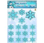 Adesivo Decorativo Flocos de Neve - 16 Unidades