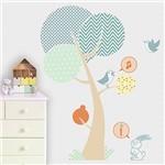 Adesivo Decorativo Infantil Stixx de Árvore Bosque Menino Colorido (136x176cm)