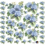 Adesivo Decorativo Toke e Crie TDM-014 Hortênsias Azuis By Mamiko