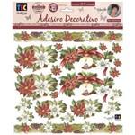 Adesivo Decorativo Velas e Azevinhos By Mamiko -20474 - TDM13 - Toke e Crie