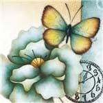Adesivo Decoupage 13x13 Flores e Borboletas XIII LAXIII-008 - Litocart